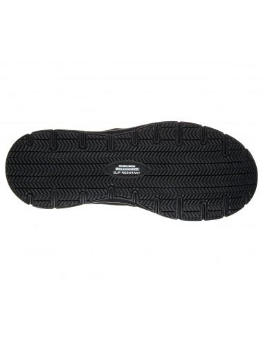 Skechers negro de piel sin cordones